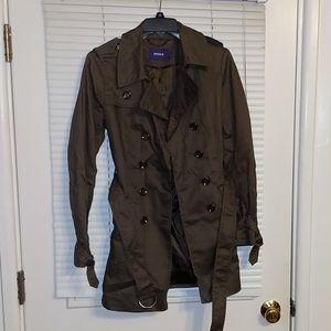 Mexx size 10 Gray/Green Short Trench Coat